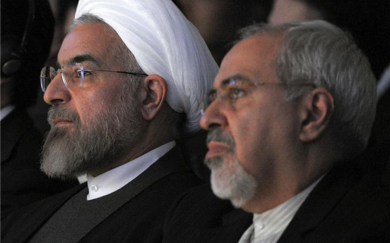 5.Para17Right.Zarif and Rouhani